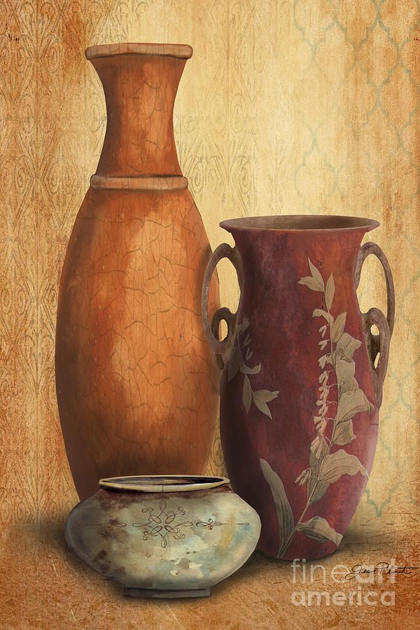 Still Life-h Painting by Jean Plout