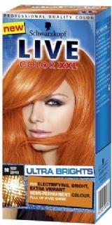 Live color XXL Ultra Brights 90 Fiery Copper geeft een intensieve en heldere verkleuring op reeds geblondeerd haar en een een meer subtielere verkleuring op natuurlijk of geverfd haar.
