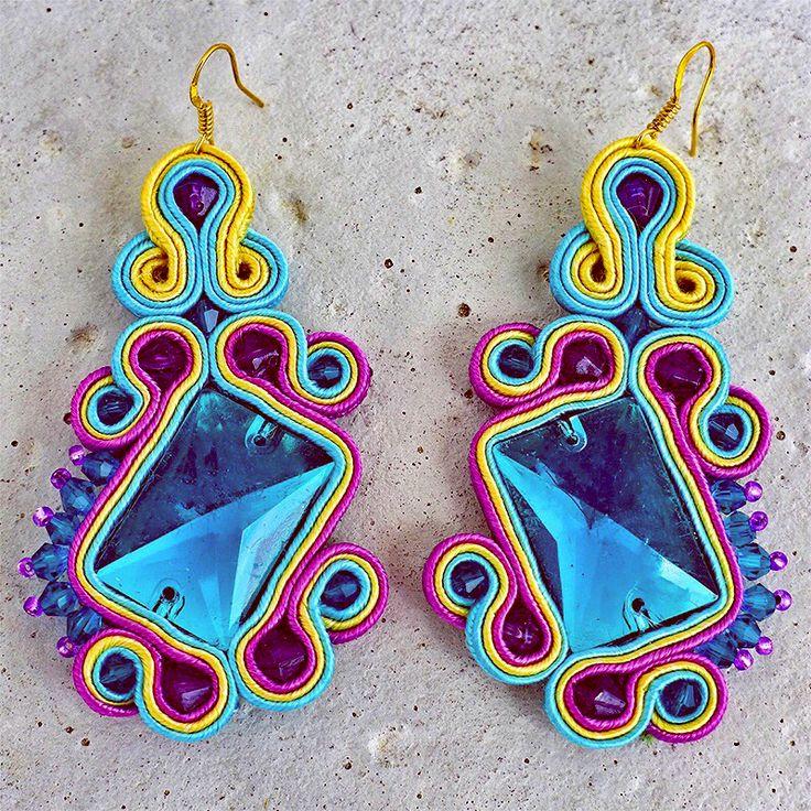 Handmade ZuzDesign Soutache Earings Pastels http://femmefashion.sk/zuz-design/2375-nausnice-pastels.html