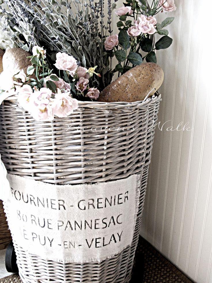 Heaven's Walk: DIY Vintage French Market Baskets