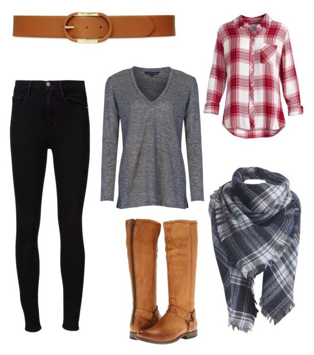 Relaxed Saturday winter look by ncita-willey on Polyvore featuring polyvore, fashion, style, Rails, French Connection, Frame Denim, Frye, Lauren Ralph Lauren and clothing