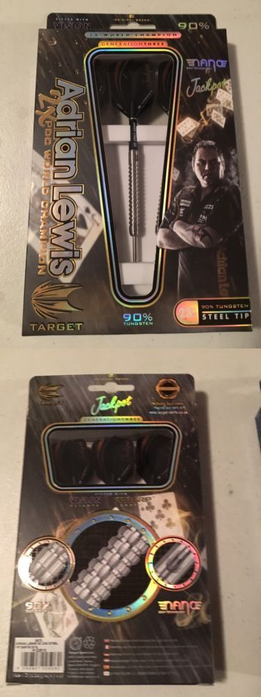 Darts-Soft Tips 26331: Target Jackpot Adrian Lewis 90% Tungsten 23G Steel Tip Darts Bx 3 -> BUY IT NOW ONLY: $40 on eBay!