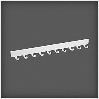 Konsolkroklist t garderoben i hallen: Med konsolkroklisten förvara du scarfar, halsband, väskor och andra saker. Monteras på klick in 40 konsol.