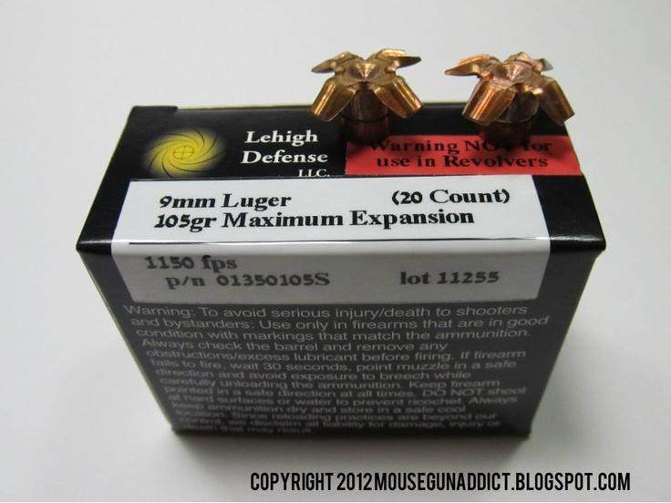 expansion test maximum expansion defense 9mm defense ammunition 9mm ...