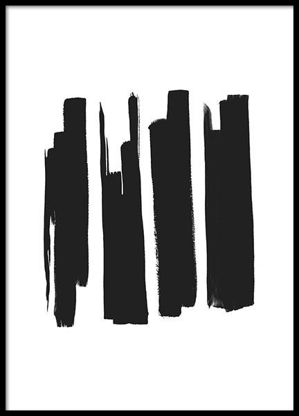 Black Strokes, poster i gruppen Posters  / Storlekar / 30x40cm hos Desenio AB (8603)