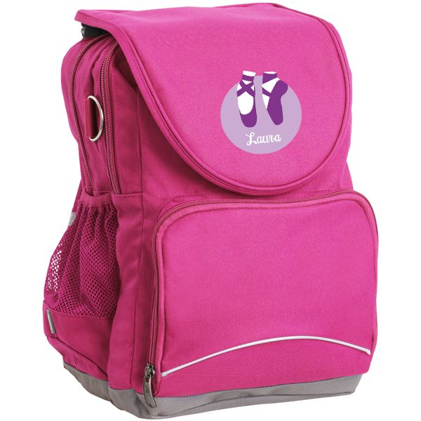 Ballet Dancer Backpack - Personalise with your kids name. Perfect for your little Prima-Ballerina! #ballet_bags #ballet_accessories #For_Girls #Personalised #Kids_Gifts