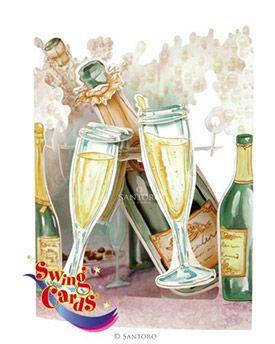 Champagne Celebration 3D Swing Card | Santoro London