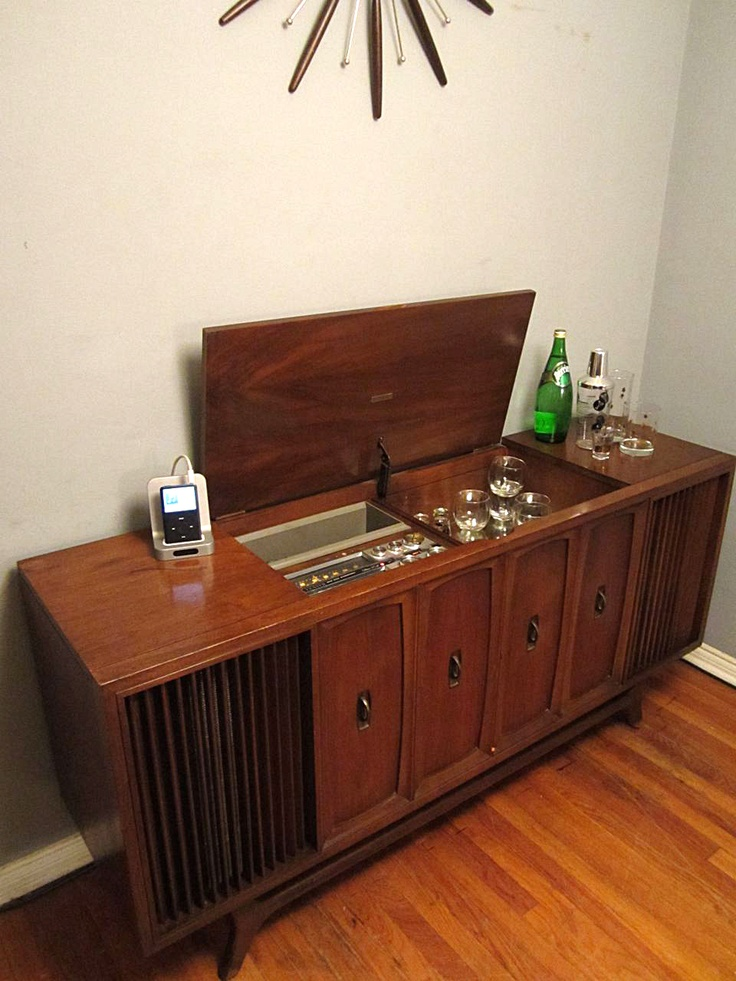 vintage stereo cabinet zenith solid state stereophonic high fidelity console 28001