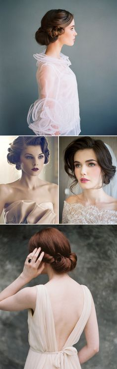 Elegante Hochsteckfrisuren für die retro, vintage Braut