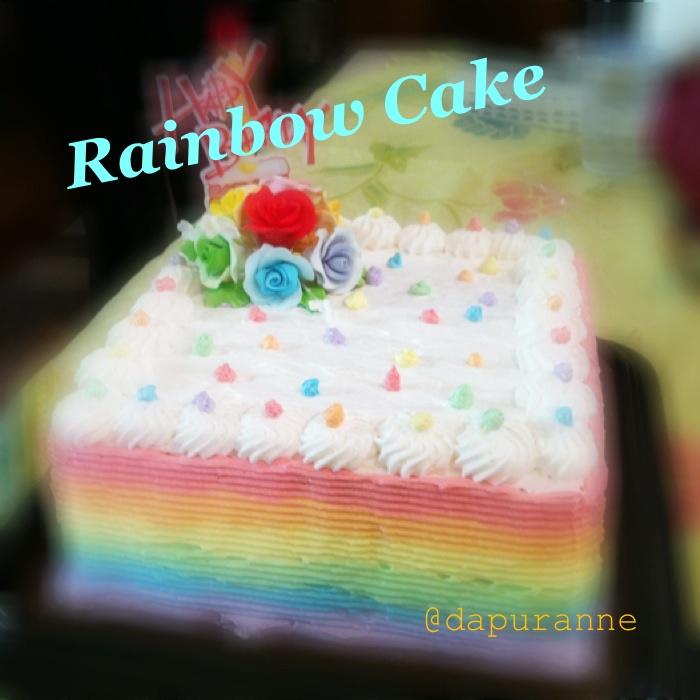 Rainbow birthday cake..
