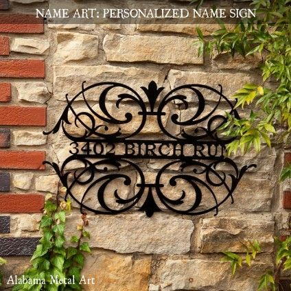 Beautiful Decorative Iron Work This Would Be Cool With Our Name Instead Of Address Turning A Dream Into Reality In 2018 Pinterest Metal Walls