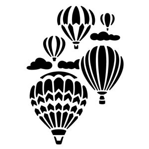 Serendipity Stamps Hot Air Balloons Reverse Die