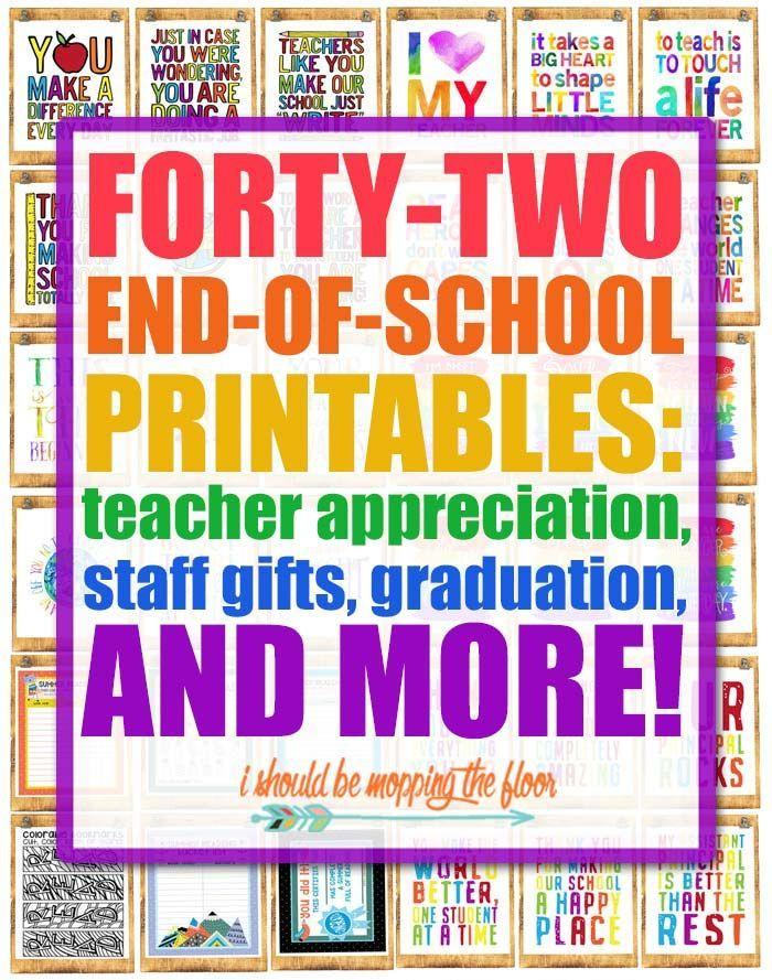42 End of School Year Printables | Printables ~ Oh so Cute