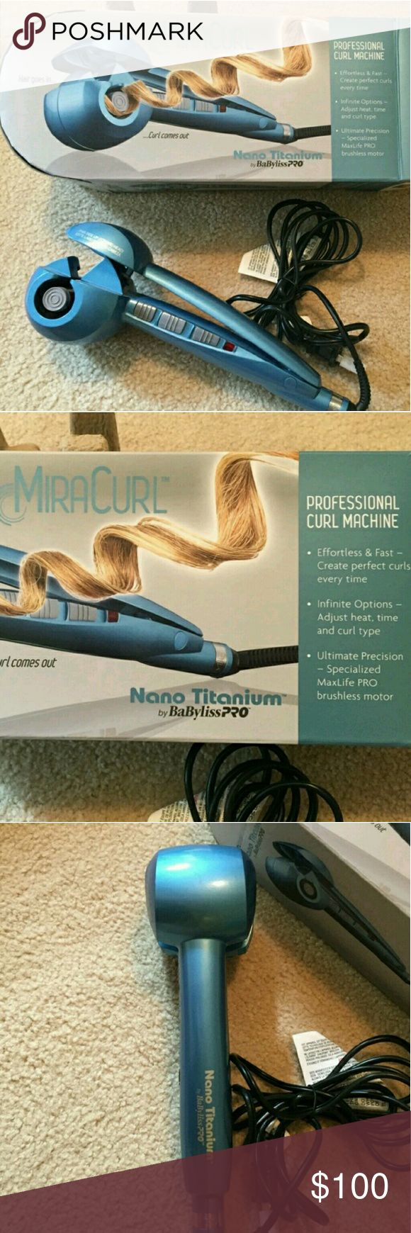 Babyliss Pro MiraCurl Professional Curl Machine Used once, excellent condition like new.  Original price $200, now selling 50%off - $100 Babyliss Makeup Brushes & Tools