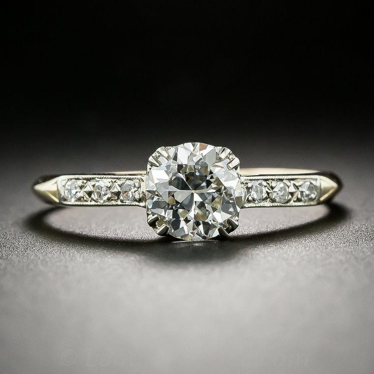 84 Carat Two Tone Vintage Diamond Engagement Ring 10 1 6603 Lang Antique