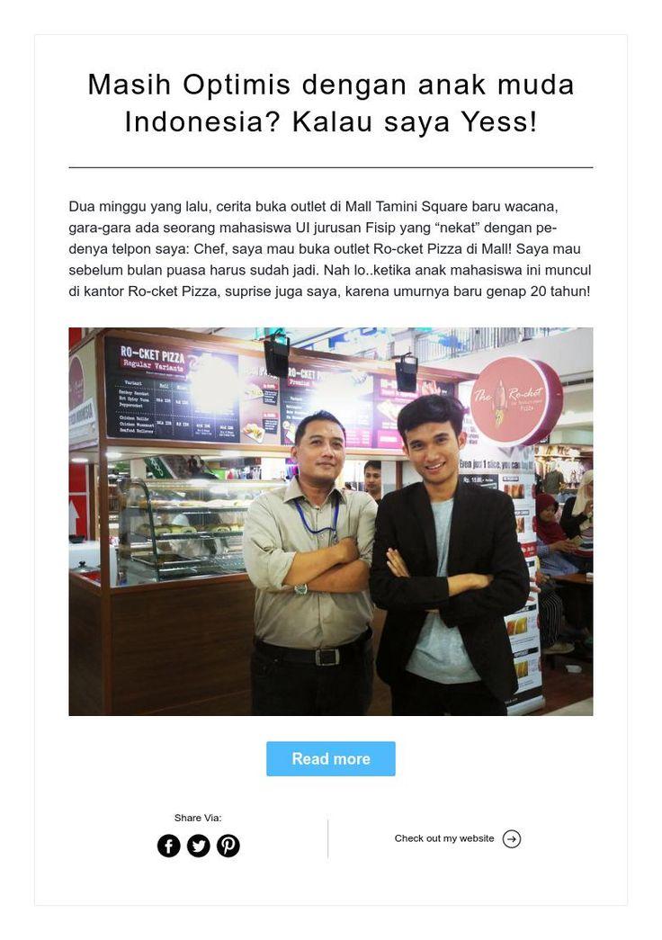 Masih Optimis dengan anak muda Indonesia? Kalau saya Yess!