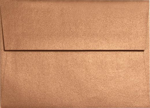 A9 Invitation Envelopes (5 3/4 x 8 3/4) 80lb. Copper Metallic - Envelopes.com