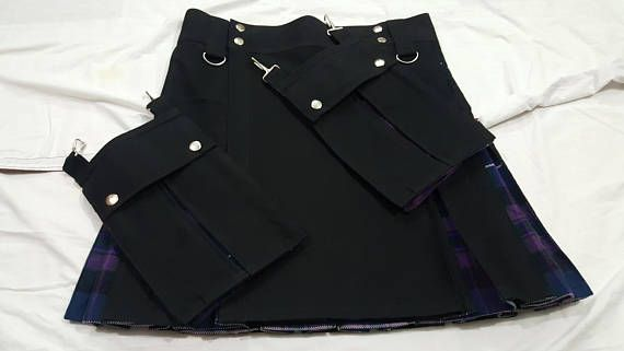 Pride Of Scotland Tartan Hybrid Detachable Pockets Kilt Custom Made Main Colors is Black & Pride of Scotland Tartan Fabric Combination of colors can be costumed according to customer requirements Kilt can be made in different colors like Red , Olive Green , Blue , White , Pink    Hybrid Tartan available is Royal Stewart Tartan Black watch Tartan Irish Tartan McLeod Tartan Gray Tartan Pride of Scotland Tartan Douglas Tartan MacKenzie Tartan Wallace Tartan   Silver Buttons .. 2 Detachable P...