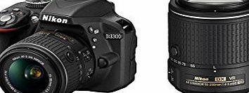 Nikon D3300 Digital SLR Camera - Black (24.2 MP, 18 - 55 mm VR II and 55 - 200 mm VR II Lens Kit) No description (Barcode EAN = 0018208999156). http://www.comparestoreprices.co.uk/december-2016-week-1-b/nikon-d3300-digital-slr-camera--black-24-2-mp-18--55-mm-vr-ii-and-55--200-mm-vr-ii-lens-kit-.asp