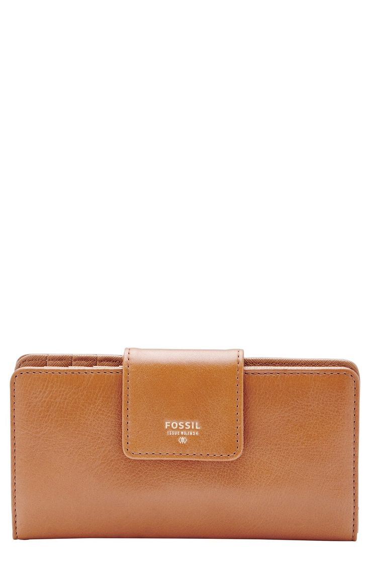 New wallet - semi-flat or bifold square... COLOR: CAMEL. Fossil 'Sydney' Wallet