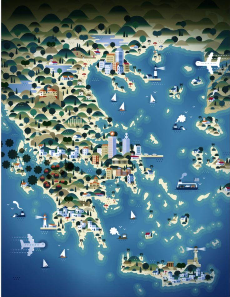 Greece Map #monogramsvacation