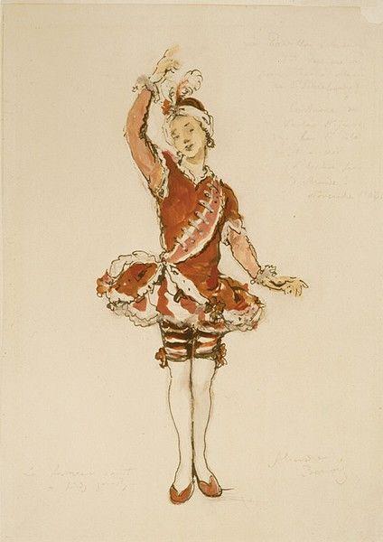Set design by Alexandre Benois for Le Pavillon d'Armide, 1909