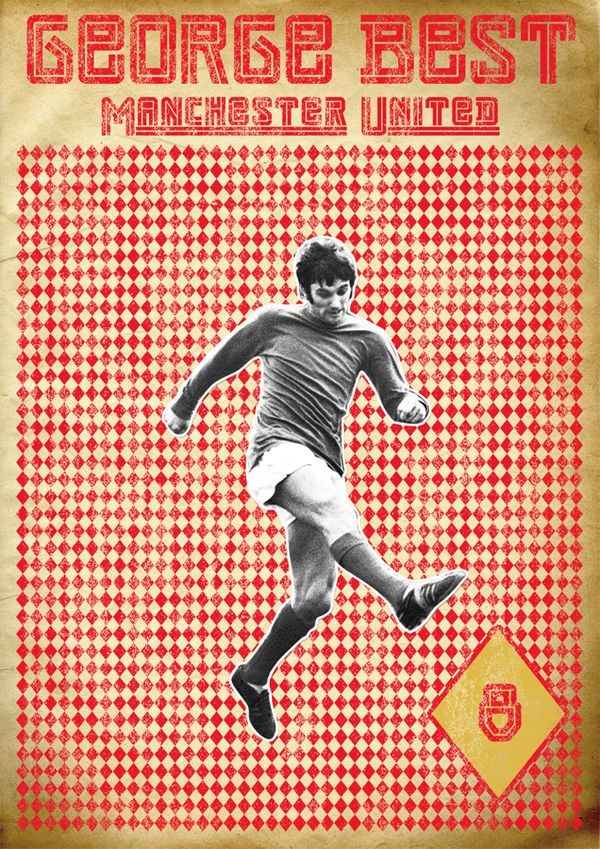 Poster Retro George Best by Cristiano Cáceres, via Behance #soccer #poster