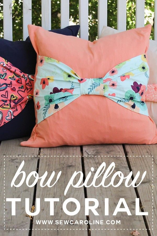 You can never have too many pillows. Sew Caroline's tutorial for a DIY bow pillow, featuring a knit fabric, is a soft and comfortable addition to your bed or couch. Click through for the complete tutorial.
