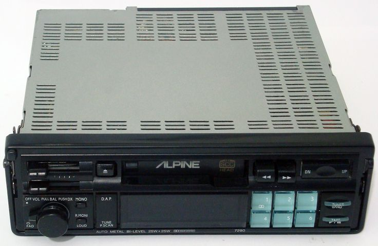 Pull Out Alpine Car Stereo
