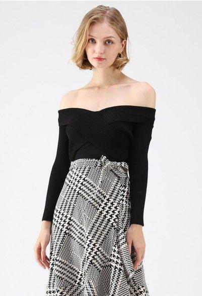 e9973686b0dd0 Cross On Love Knit Top in Black