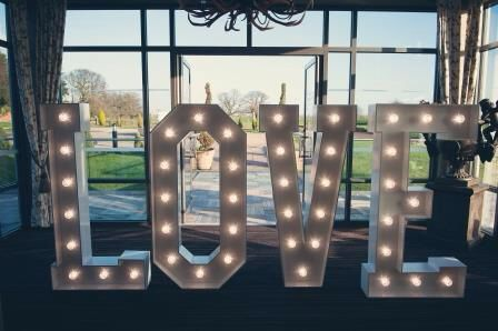 L.O.V.E in lights by Distinct Event Solutions
