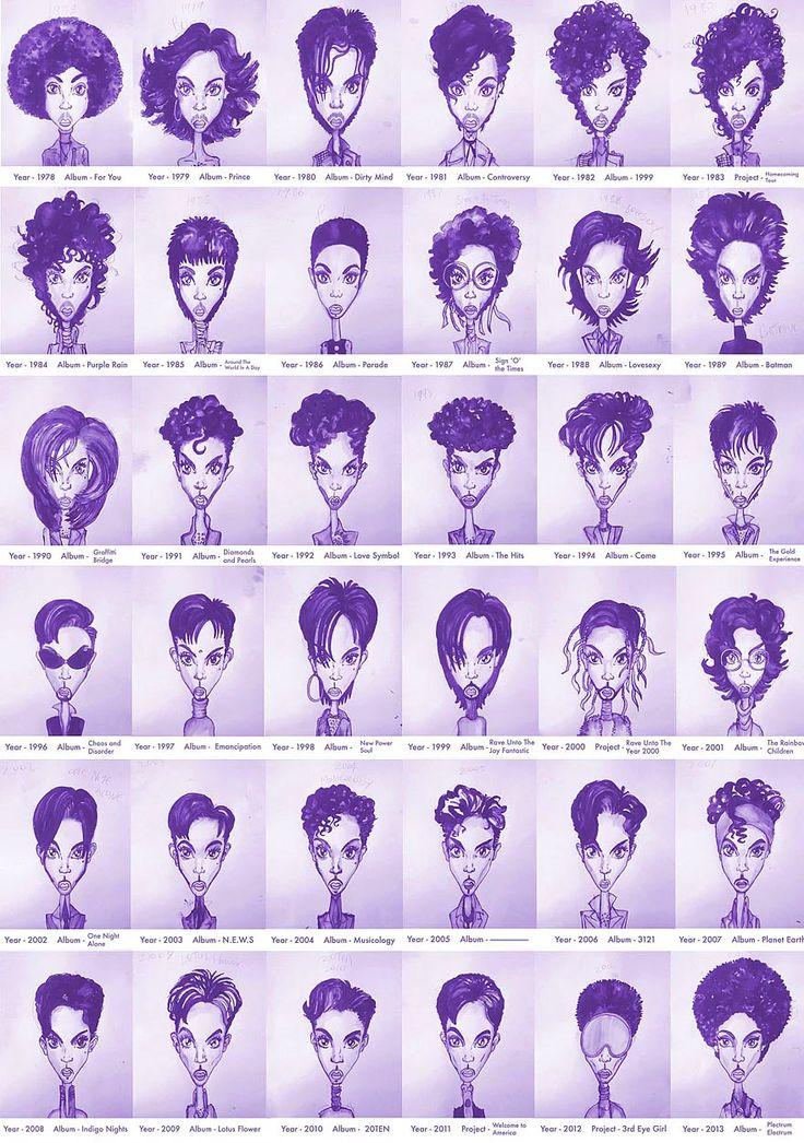 Set tasarımları da yapan sanatçı Gary Card'ın imza attığı bu başarılı illüstrasyonlar Prince'in daima stil sahibi, hatta stilin ta kendisi olduğunu kanıtlamak üzere karşınızda.