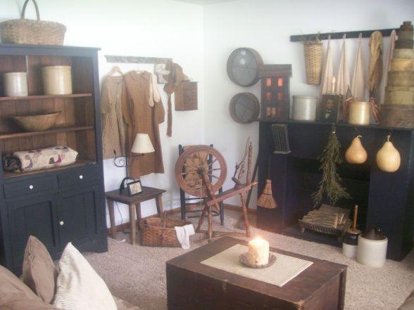 primitive living living rooms design decorating ideas pinterest