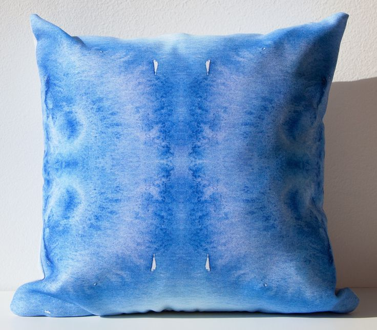 Decorative Pillows With Mirrors : Indigo Mirror Outdoor Throw Pillow design by elise flashman Indigo, Throw pillows and Products