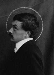 An unknown photographer gave Koloman Moser a spiritual halo in about 1903. MAK—Austrian Museum for Applied Arts/Contemporary Art, Vienna Photo: ©MAK