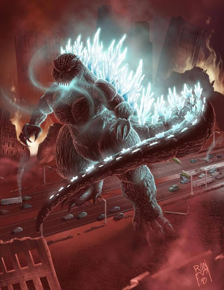 Godzilla. Anyone else get chills and start freaking out in your seat when Godzilla's spikes started lighting up with blue fire in the newest american movie?