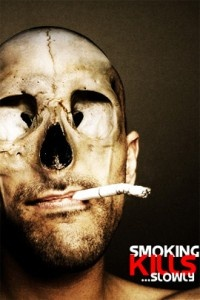 The ad is an example of shock advertisement. It is an image that can catch people's attention showing that smoking kills from the inside to out.