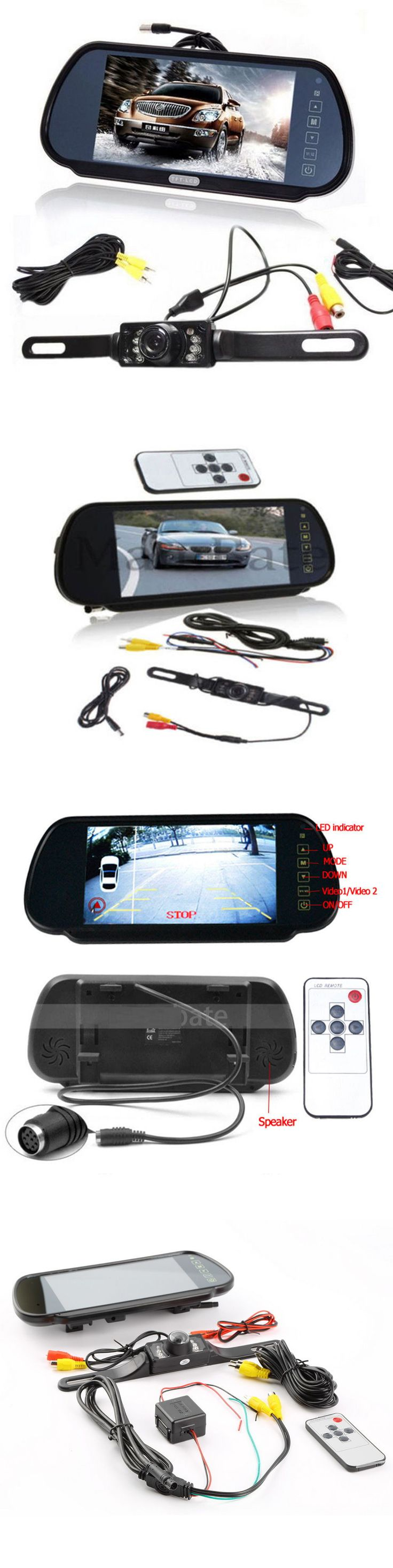 Rear View Monitors Cams and Kits: 7 Lcd Car Rear View Mirror Monitor Night Vision Backup Reverse Camera BUY IT NOW ONLY: $33.82