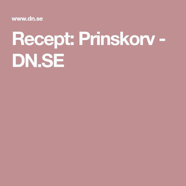 Recept: Prinskorv - DN.SE