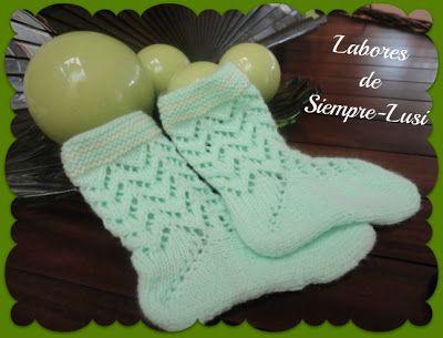 Labores de siempre: Calcetines bebé talla 8-12 meses