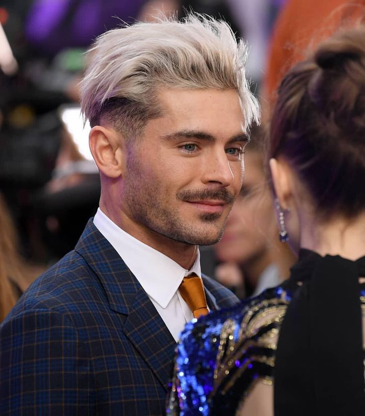 "𝓩𝓪𝓬 𝓔𝓯𝓻𝓸𝓷 𝓑𝓾𝓵𝓰𝓪𝓻𝓲𝓪 🇧🇬 on Instagram: ""via @fashionbeanscom: Zac Efron may just be the only man on the planet brave enough to attempt a bleached, messy undercut. 