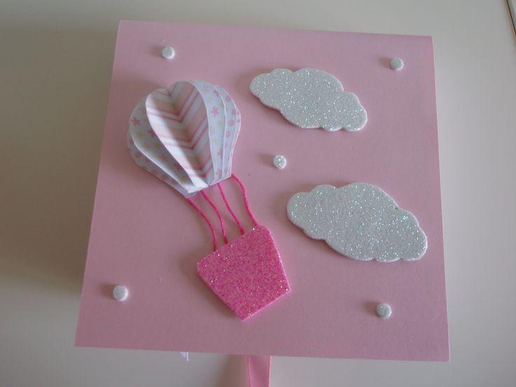 Caixa de Gesso Perfumado Balão Rosa