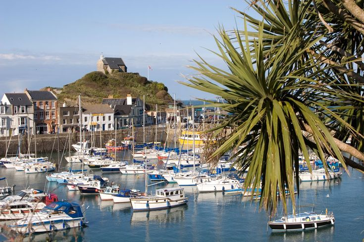 Ilfracombe Harbour, Devon, England... Note the Yukka trees due to the mild climate