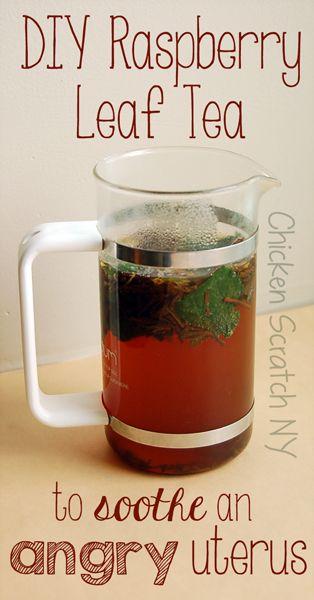 DIY Raspberry Leaf Tea to soothe an angry uterus
