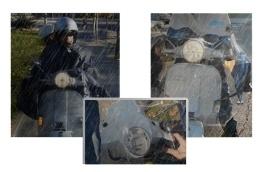 #CAPA DE AGUA MOTO IMPERMEABLE La solución ante la lluvia repentina, plegada siempre en tu scooter, lista para usar sin montaje ni anclajes, cubre vehículo y conductor a la vez, con parte frontal transparente, para perfecta visualización de luces, intermitentes y cuadro de mandos, y aberturas regulables para retrovisores y parabrisas. En color crema, o verde. Recomendada para scooter y uso urbano. Válida para todas las scooter sin parabrisas o parabrisas más adelantado que los retrovisores