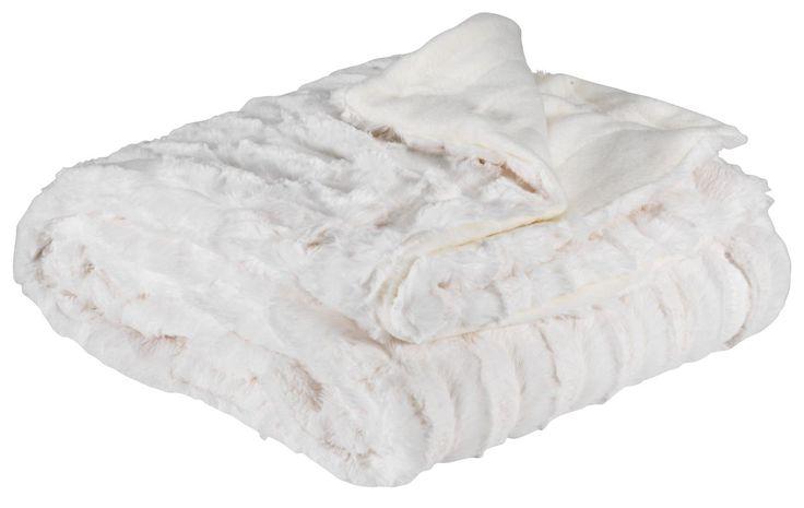 Plaid MYGGBLOM 220x240 hvid | JYSK