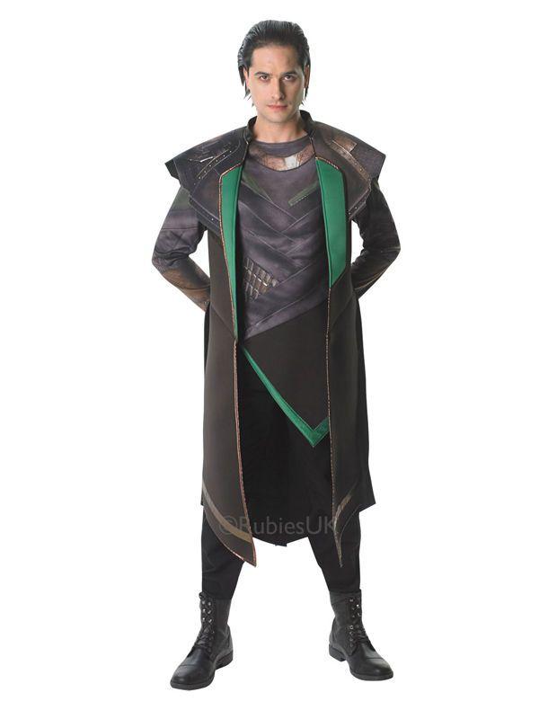 Adult Marvel Thor 2 Loki Avengers Initiative Outfit Fancy Dress Costume Movie  | eBay