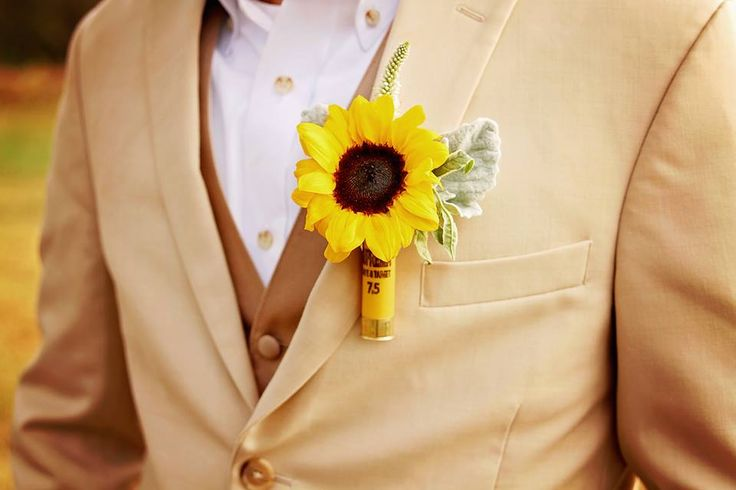Garden Gate Flowers... Grimes Wedding...shotgun shell boutonnière