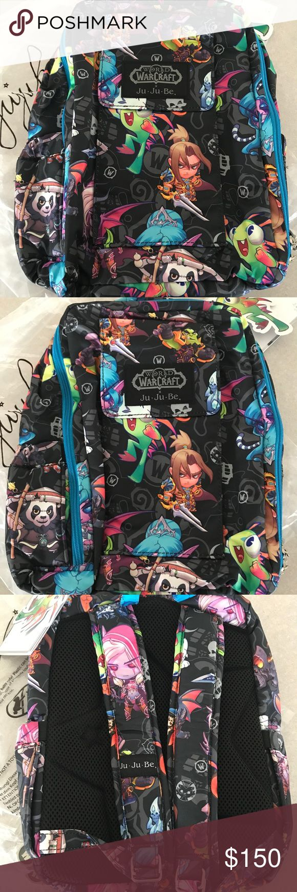 """Ju-Ju-Be Mini Be Cute But Deadly World of Warcraft Authentic Ju-Ju-Be x BLIZZARD World of Warcraft """"Cute But Deadly"""" Collaboration MINI BE Backpack  Incredibly rare and sold out worldwide. This release was very limited. PRICE FIRM. NO Offers.  9""""W x 12""""H x 5""""D Ju-Ju-Be Bags Backpacks"""