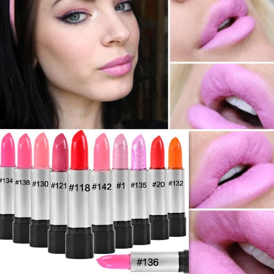 2016 maquiagem有名なブランド韓国メイクフルサイズベビーピンク口紅用女性唇メイクアップ健康防水口紅batom